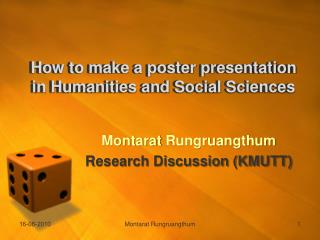 How to make a poster presentation in Humanities and Social Sciences