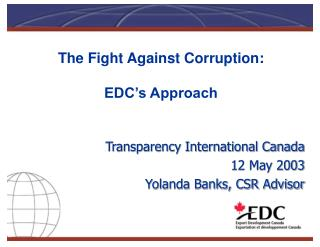 The Fight Against Corruption: EDC's Approach