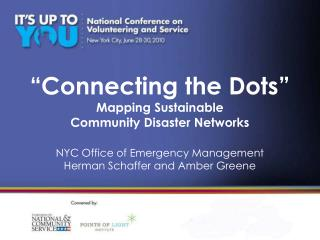 """Connecting the Dots""  Mapping Sustainable  Community Disaster Networks"