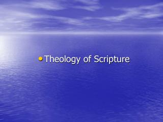 Theology of Scripture