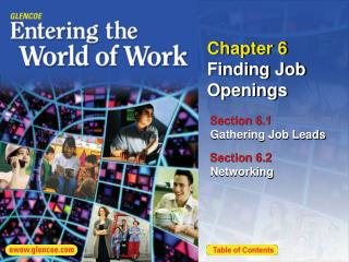Chapter 6  Finding Job Openings