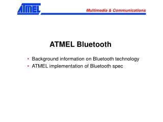 ATMEL Bluetooth
