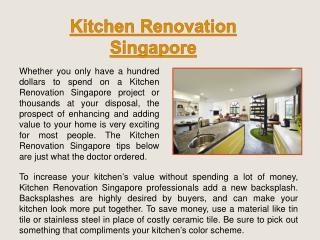 Kitchen And Toilet Renovation Package Singapore