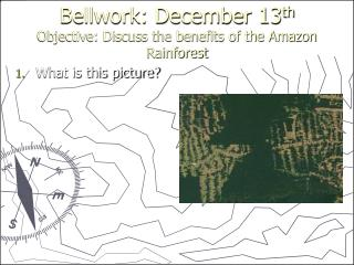Bellwork: December 13 th Objective: Discuss the benefits of the Amazon Rainforest
