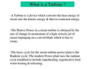 What is a Turbine ?