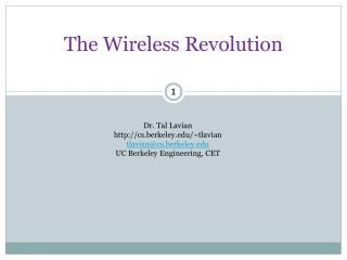 The Wireless Revolution