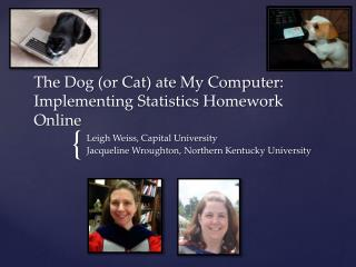 The  Dog (or Cat)  ate My Computer: Implementing Statistics Homework Online