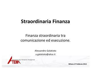 Straordinaria Finanza