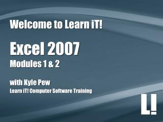 Welcome to Learn  iT !
