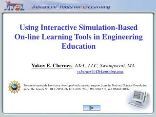Using Interactive Simulation-Based On-line Learning Tools in Engineering Education