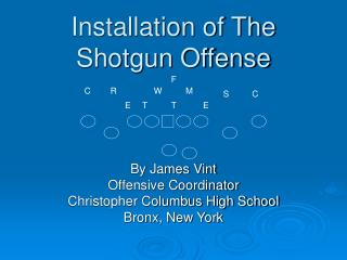 Installation of The Shotgun Offense