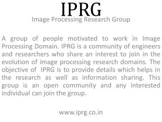 Image Processing Research Group
