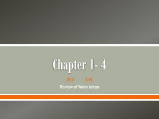 Chapter 1- 4