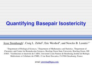 Quantifying Basepair Isostericity