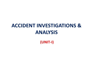 Accident Trend Analysis
