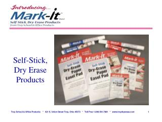 Self-Stick, Dry Erase Products