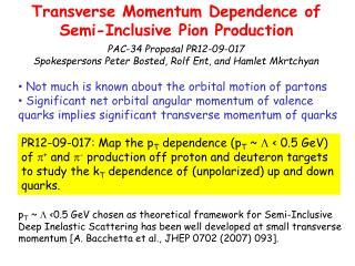 Transverse Momentum Dependence of Semi-Inclusive Pion Production