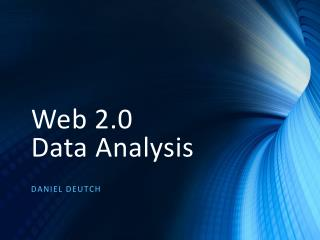 Web 2.0  Data Analysis
