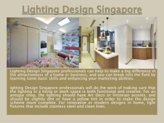 Lightings in Singapore