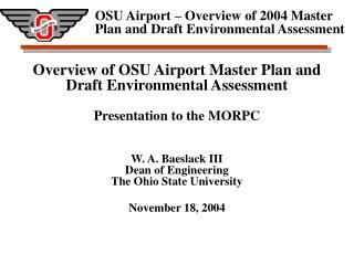 Airport Master Plan Purpose