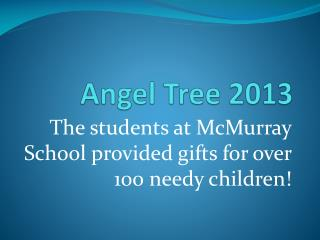 Angel Tree 2013
