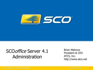 SCO office  Server 4.1 Administration