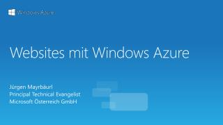 Websites  mit Windows  Azure