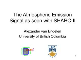 The Atmospheric Emission Signal as seen with SHARC-II