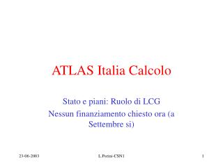 ATLAS Italia Calcolo
