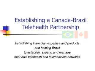 Establishing a Canada-Brazil Telehealth Partnership