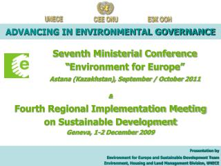 ADVANCING IN ENVIRONMENTAL GOVERNANCE