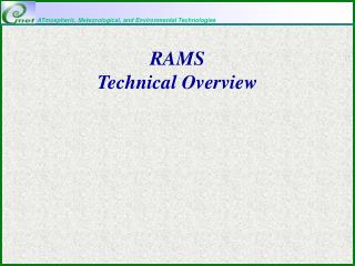 RAMS  Technical Overview
