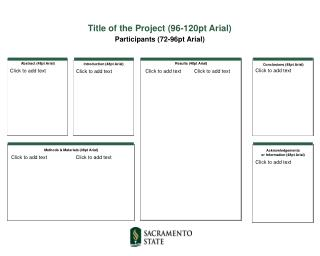 Title of the Project (96-120pt Arial) Participants (72-96pt Arial)