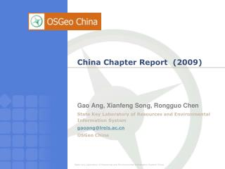 China Chapter Report  (2009)