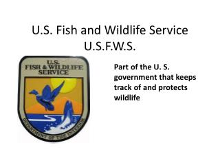 U.S. Fish and Wildlife Service U.S.F.W.S.