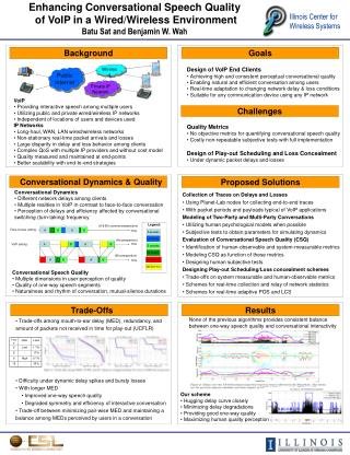 Enhancing Conversational Speech Quality  of VoIP in a Wired/Wireless Environment