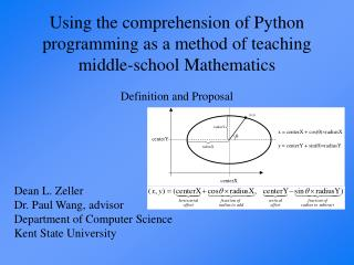 Using the comprehension of Python programming as a method of teaching middle-school Mathematics