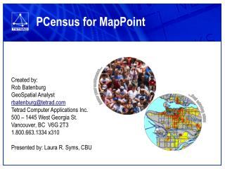 PCensus for MapPoint
