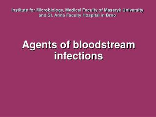 Agents of  bloodstream infections