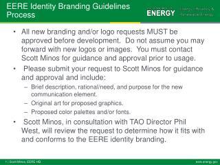 EERE Identity Branding Guidelines Process