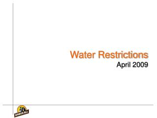Water Restrictions April 2009