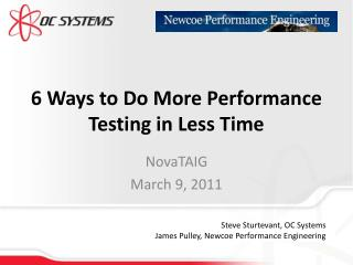 6 Ways to Do More Performance Testing in Less Time
