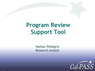 Program Review Support Tool