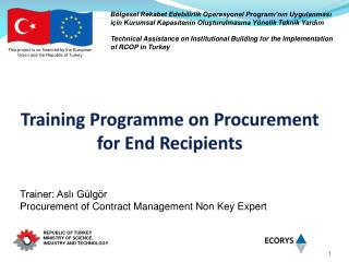 Training Programme on Procurement for End Recipients