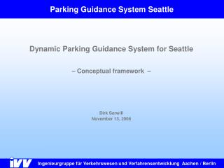 Parking Guidance System Seattle