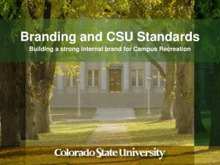 Branding  and CSU Standards