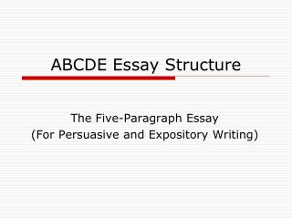ABCDE Essay Structure