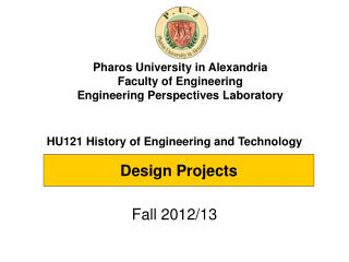 HU121 History of Engineering and Technology