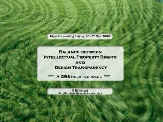 Balance between Intellectual Property Rights and  Design Transparency