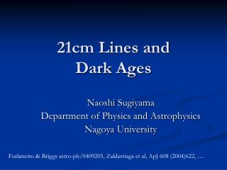 21cm Lines and  Dark Ages